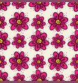 seamless pattern with flowers on light background vector image
