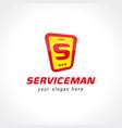 service logo vector image vector image
