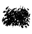 set of black paint dirty brush strokes vector image vector image