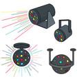 set of disco light vector image vector image