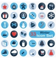 Set of round winter icons vector image vector image