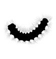 silkworm caterpillar silhouette isolated on white vector image vector image