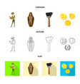 story and items symbol set vector image vector image