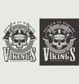 t-shirt print with viking head vector image vector image