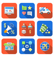 various colorful flat style business distribution vector image vector image