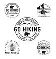 vintage hiking logos mountain adventure badges vector image vector image