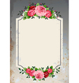 vintage roses background vector image vector image