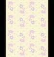 Vintage wallpaper seamless rose flower pattern vector image vector image