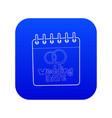 wedding date icon blue vector image vector image
