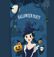 witch halloween vector image