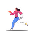 woman running girl doing physical exercises vector image