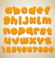 cookies font vector image