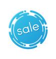 creative sale discount or promotion label design vector image