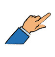 business man finger point gesture icon vector image
