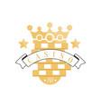 casino logo golden vintage gambling badge or vector image