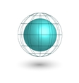 globe icon symbol vector image