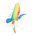 abstract colorful fantasy bird vector image vector image