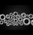 abstract gears concept on black background vector image vector image