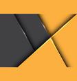 abstract yellow tone arrow geometric direction vector image vector image