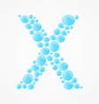 alphabet letter x vector image
