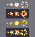 animation explosion effect in cartoon comic vector image vector image
