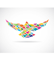 Bird abstract 2 vector image vector image