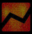 bright dot analytics chart icon vector image vector image