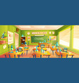 cartoon of school classroom vector image vector image