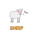 cartoon sheep flashcard for children vector image vector image