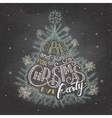 Christmas eve party invitation chalkboard vector image vector image