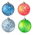 Christmas set balls background vector image vector image