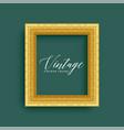 classic vintage royal golden frame design vector image vector image