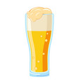 colorful cartoon beer glass vector image