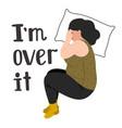 depressed woman vector image vector image