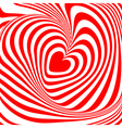 Design heart whirl background vector image vector image