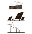 Ecology Industrial Background Set vector image vector image