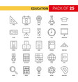 education black line icon - 25 business outline vector image