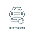 electric car line icon linear concept vector image vector image