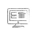 figure computer screen technology with electronic vector image vector image