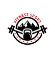 fitness sports vintage inspiration logo vector image vector image