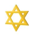Gold jew star cartoon icon vector image vector image