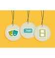 Hanging entertainment badges vector image vector image