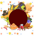 harvest organic foods like fruit and vegetables vector image