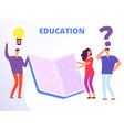 help in education education courses vector image vector image