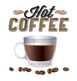hot coffee coffee bean background image vector image