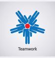 icon teamwork concept vector image
