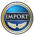 Import Label vector image vector image