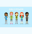 international diverse and interracial group of vector image
