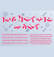 isometric font geometric alphabet 3d letters vector image vector image