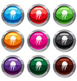 jellyfish set 9 collection vector image